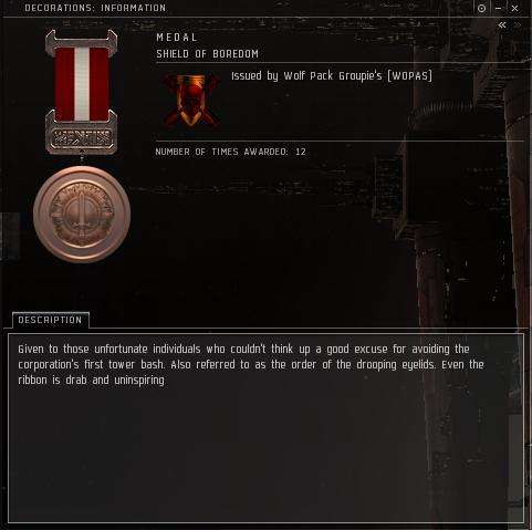Eve Medal Decoration Award Example - POS Tower Bash