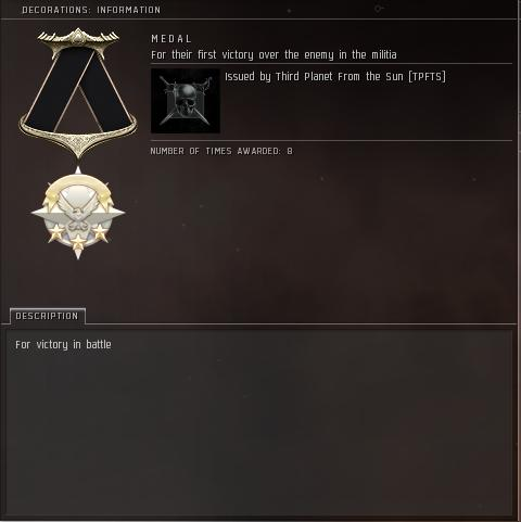 Eve Medal Decoration Award Example - Victory