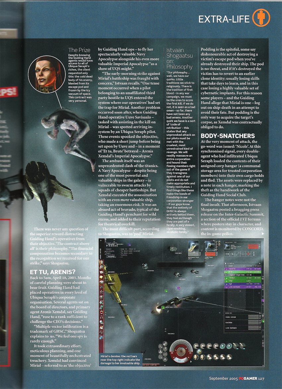 Eve September 2005 PC Gamer Scans