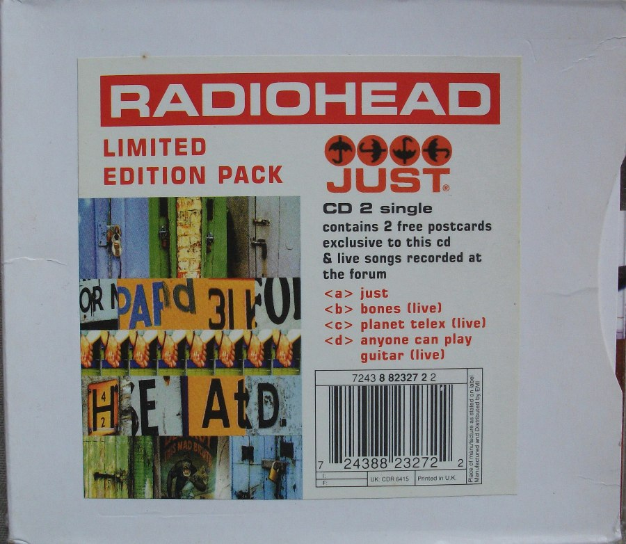 Radiohead CD Single - Just - Limited Edition Pack