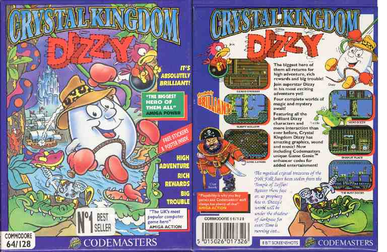 Crystal Kingdom Dizzy Game Cover