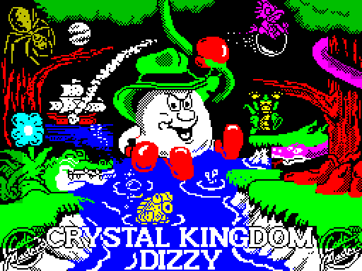 Crystal Kingdom Dizzy Loading Title Screen