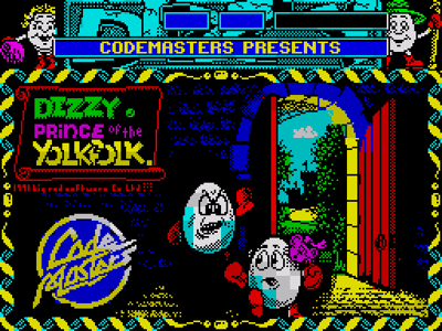 Dizzy Prince of the Yolkfolk Loading Title Screen