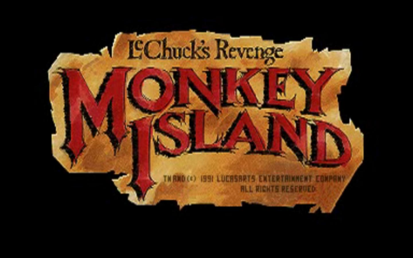 Monkey Island II Loading Title Screen