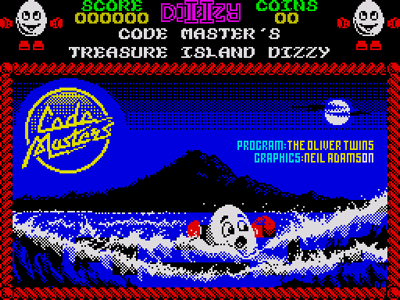 Treasure Island Dizzy Loading Title Screen