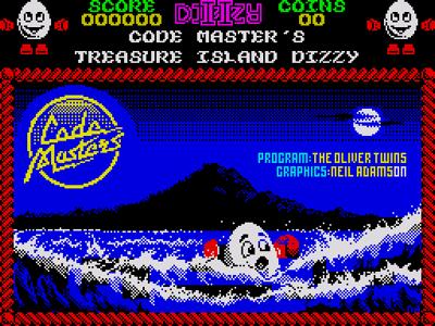 Treasure Island Dizzy Loading Title Screen
