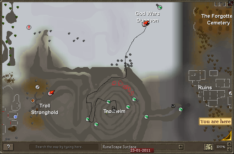 How to get to Bandos God Wars - Trollheim