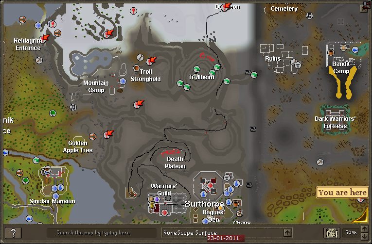 How to get to Bandos God Wars - Warriors Guild