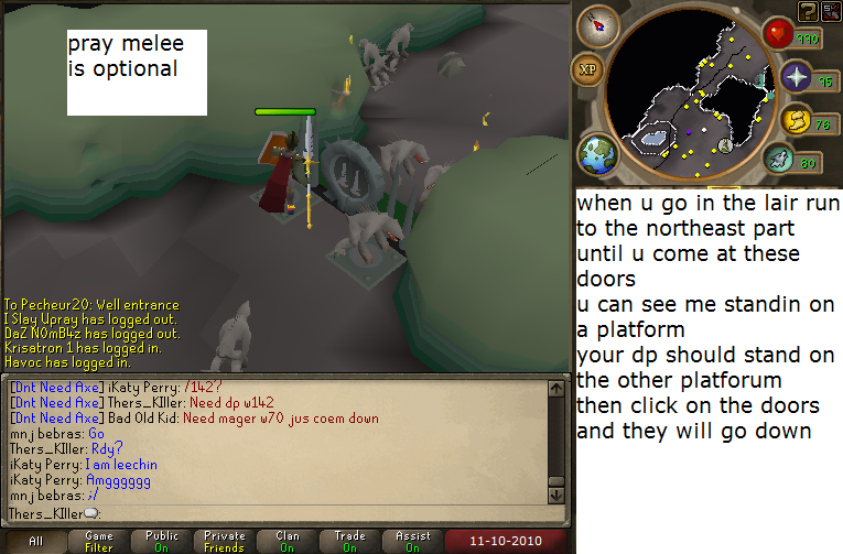 Lair Door Pressure Plates to Dagannoth Kings