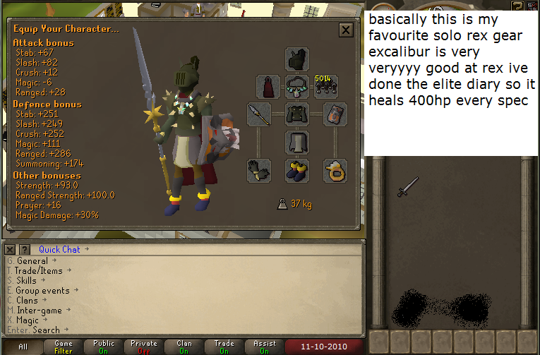 Dagannoth Kings solo rex gear with fire surge