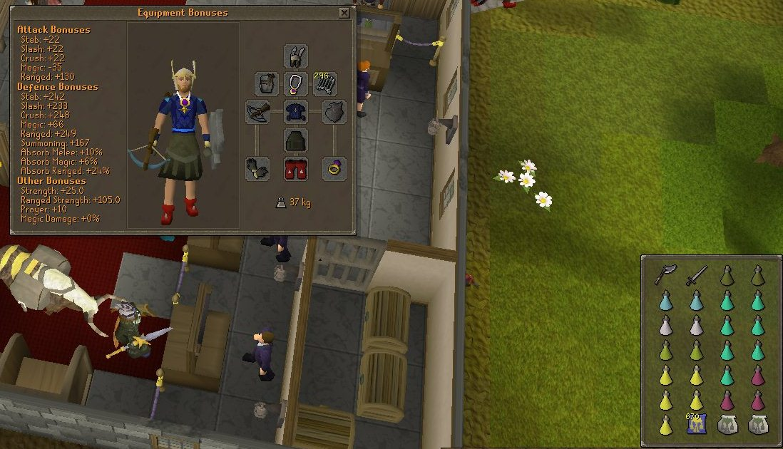Dagannoth Kings Melee and Range Gear
