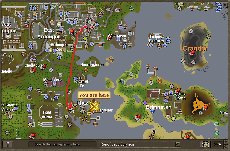 How to get to fishing trawler minigame