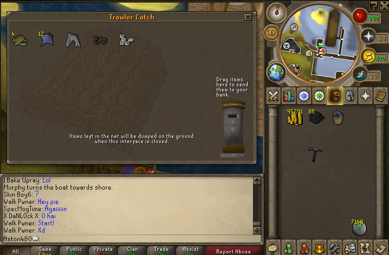 Fishing trawler reward