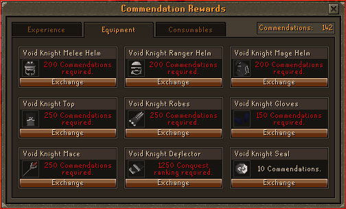 Void Knight Pest Control Rewards - Armour