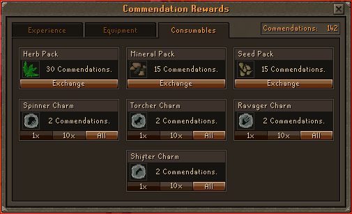 Void Knight Pest Control Rewards - Consumables