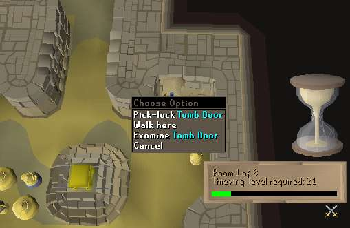 Pick-lock Tomb Door At Pyramid Plunder