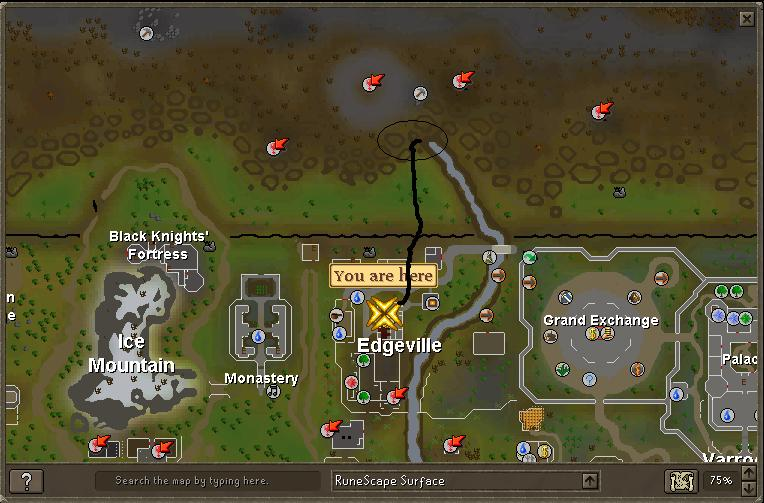The Route To Zamorak Mage From Edgeville
