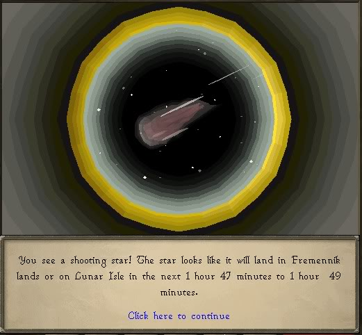 Runescape shooting star telescope