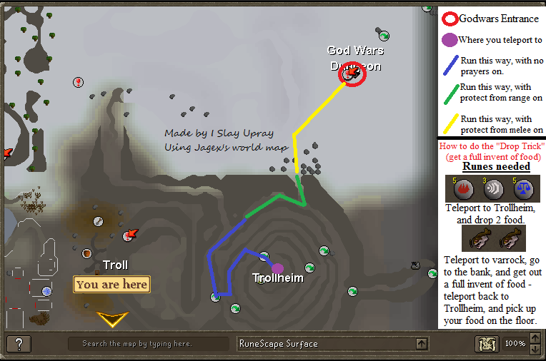 How to get to the God Wars Dungeon