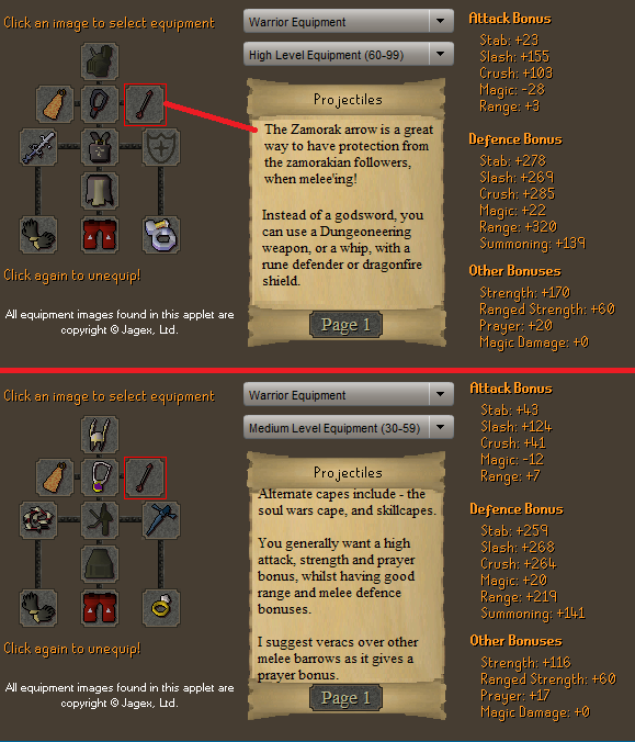 Zamorak God Wars Melee Gear Setup