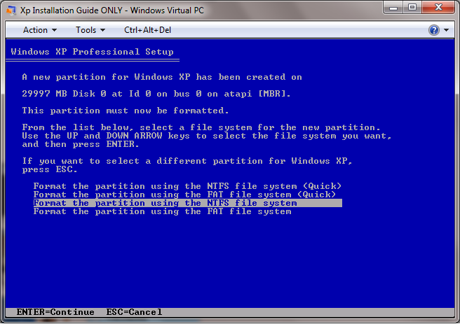 XP Installation