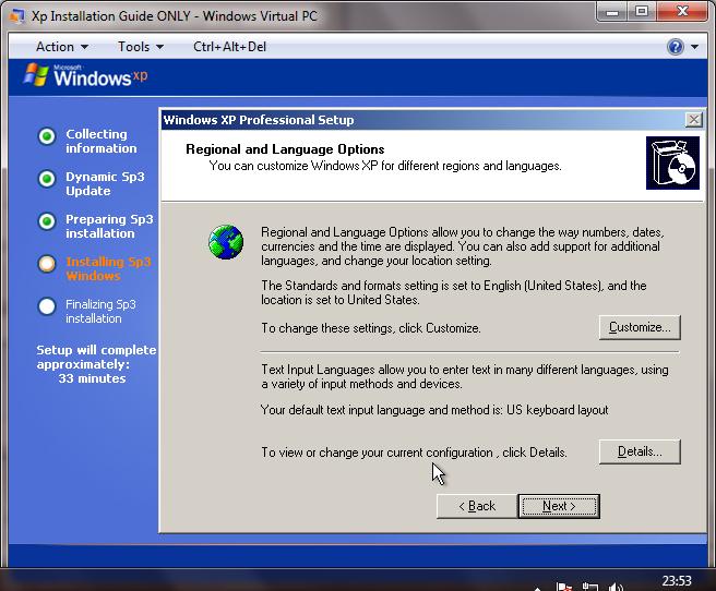 XP Installation