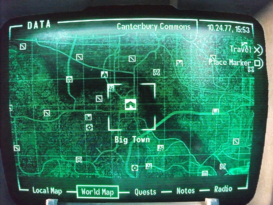 Fallout 3 Map To Big Town