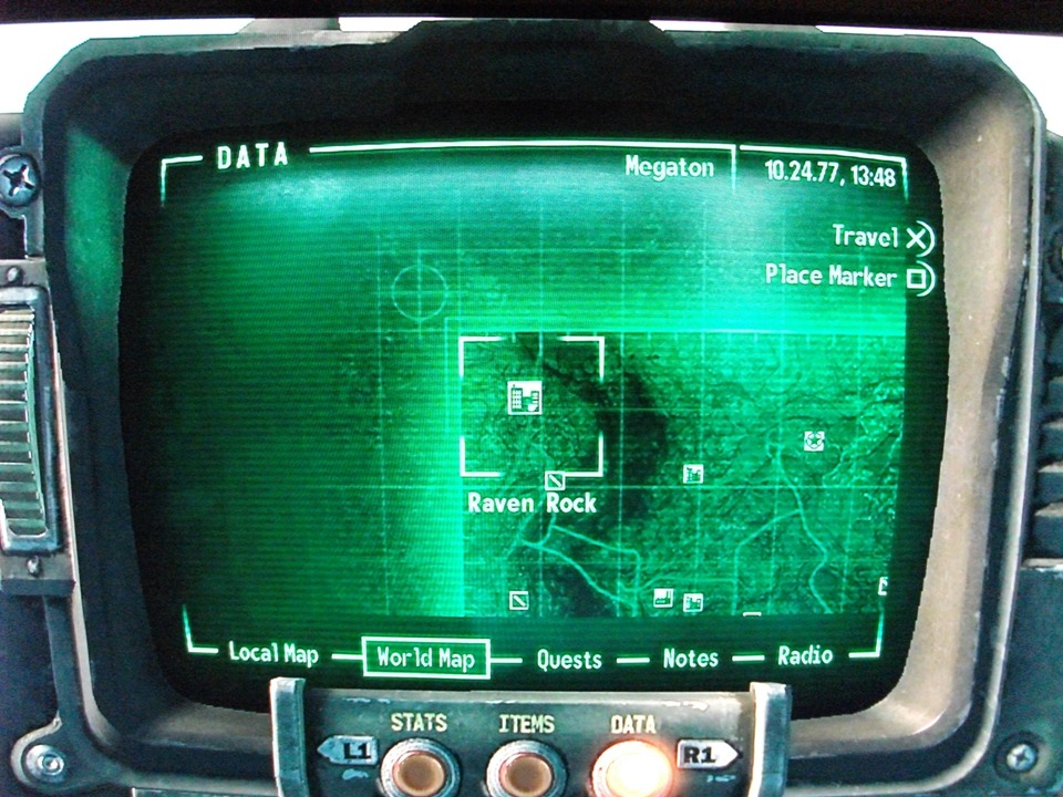 Fallout 3 Map To Raven Rock