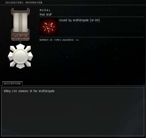 Eve Medal Decoration Award Example - 100 Kills