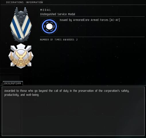 Eve Medal Decoration Award Example - Beyond The Call of Duty