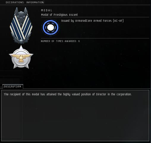 Eve Medal Decoration Award Example - Director