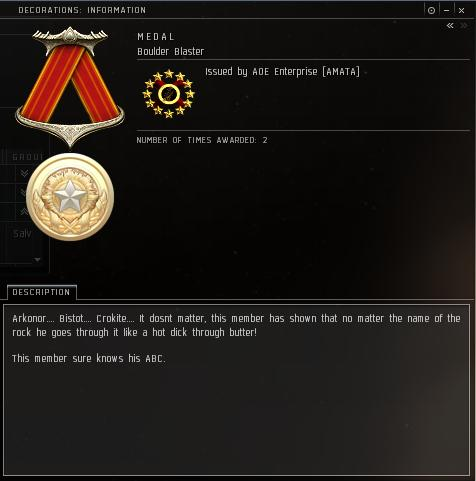 Eve Medal Decoration Award Example - Miner