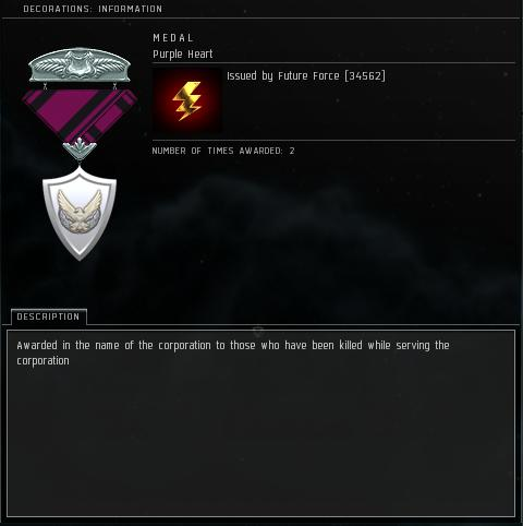 Eve Medal Decoration Award Example - Purple Heart
