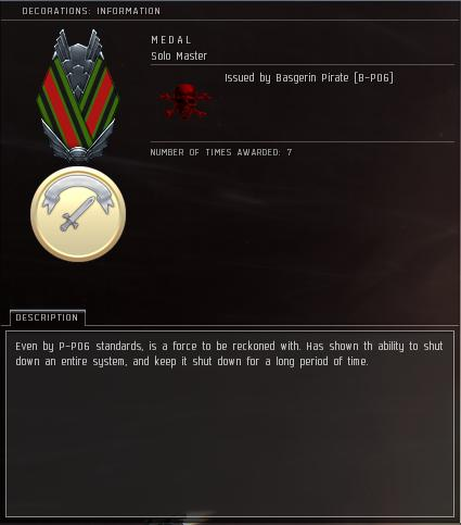 Eve Medal Decoration Award Example - System Shutdown