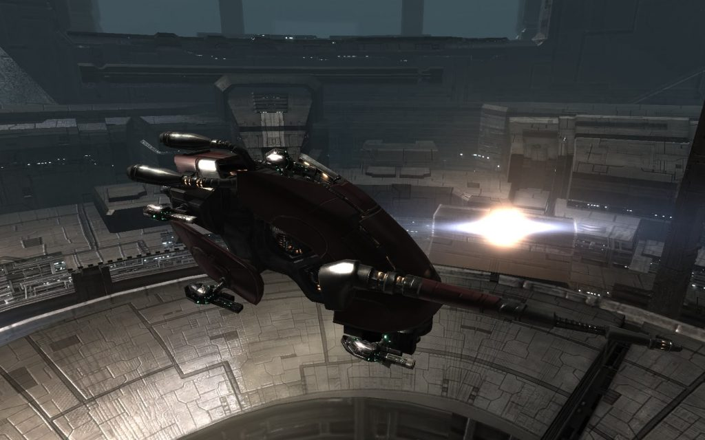 Eve Online Caldari Ship Docked Screenshot