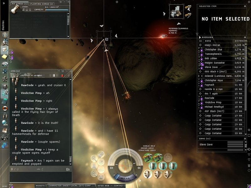 Eve Online Gang Killing Spree Screenshot