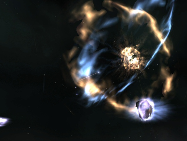 Eve Online Space Explosion Screenshot