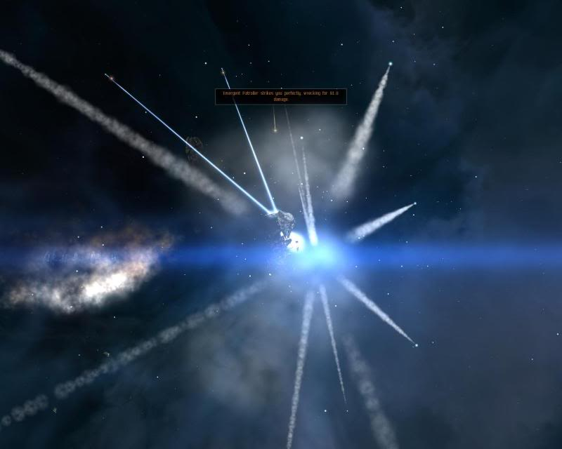 Eve Online Ship Explosion Screenshot