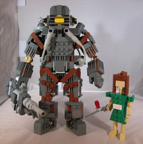 Games - Bioshock - Big Daddy and Little Sister made from Lego