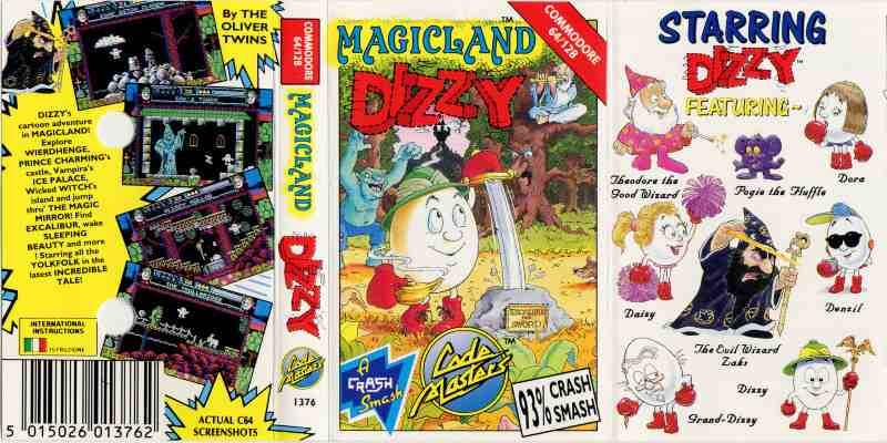 Classic Games - Magicland Dizzy Game Cover Cassette Tape