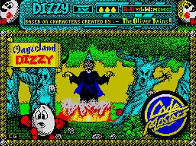Classic Games - Magicland Dizzy Loading Title Screen
