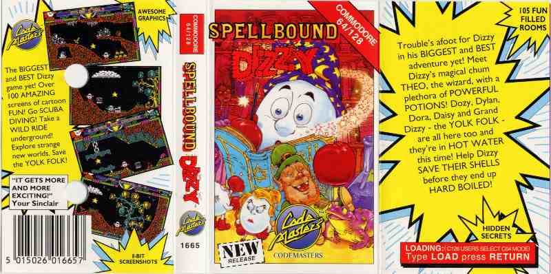 Classic Games - Spellbound Dizzy Tape Cassette Cover