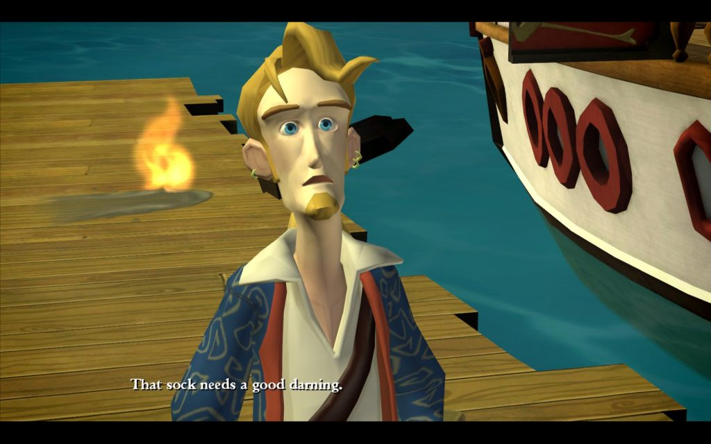 "Classic Games - Tales of Monkey Island Gameplay Screenshot ""That sock needs a good darning"""