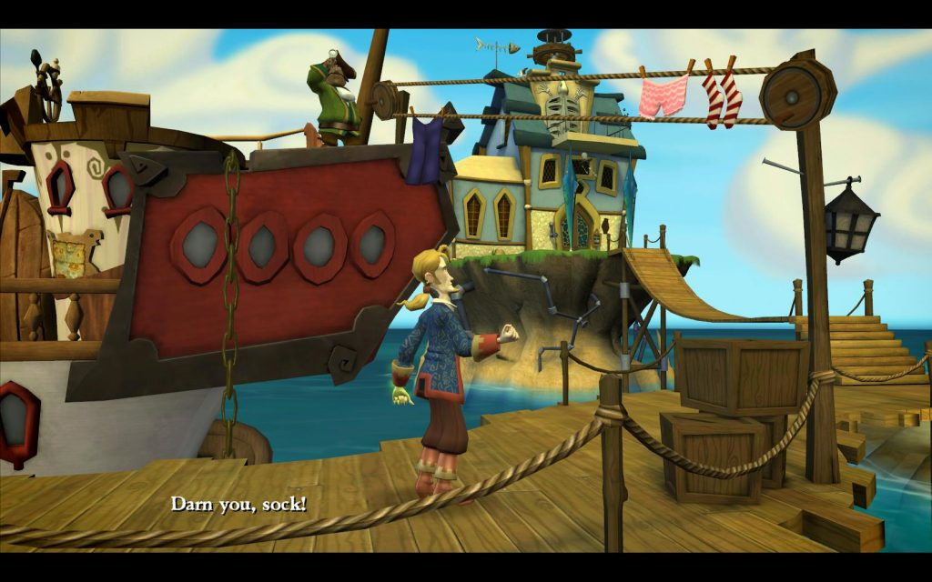 "Classic Games - Tales of Monkey Island Gameplay Screenshot ""Darn you, sock!"""