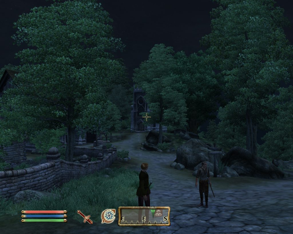Oblivion Screenshot - The Town At Night