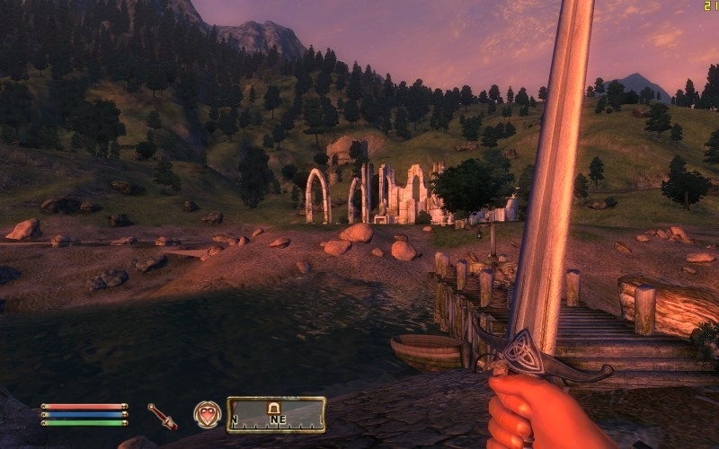 Oblivion Screenshot - Looking at Some Ruins