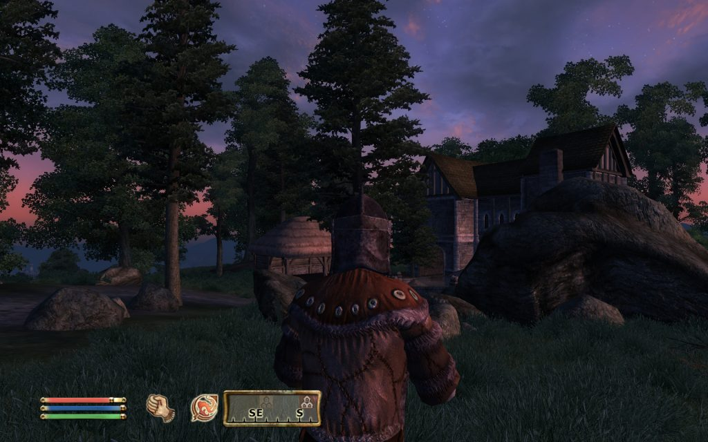 Oblivion Screenshot - Looking at the Village At Dusk