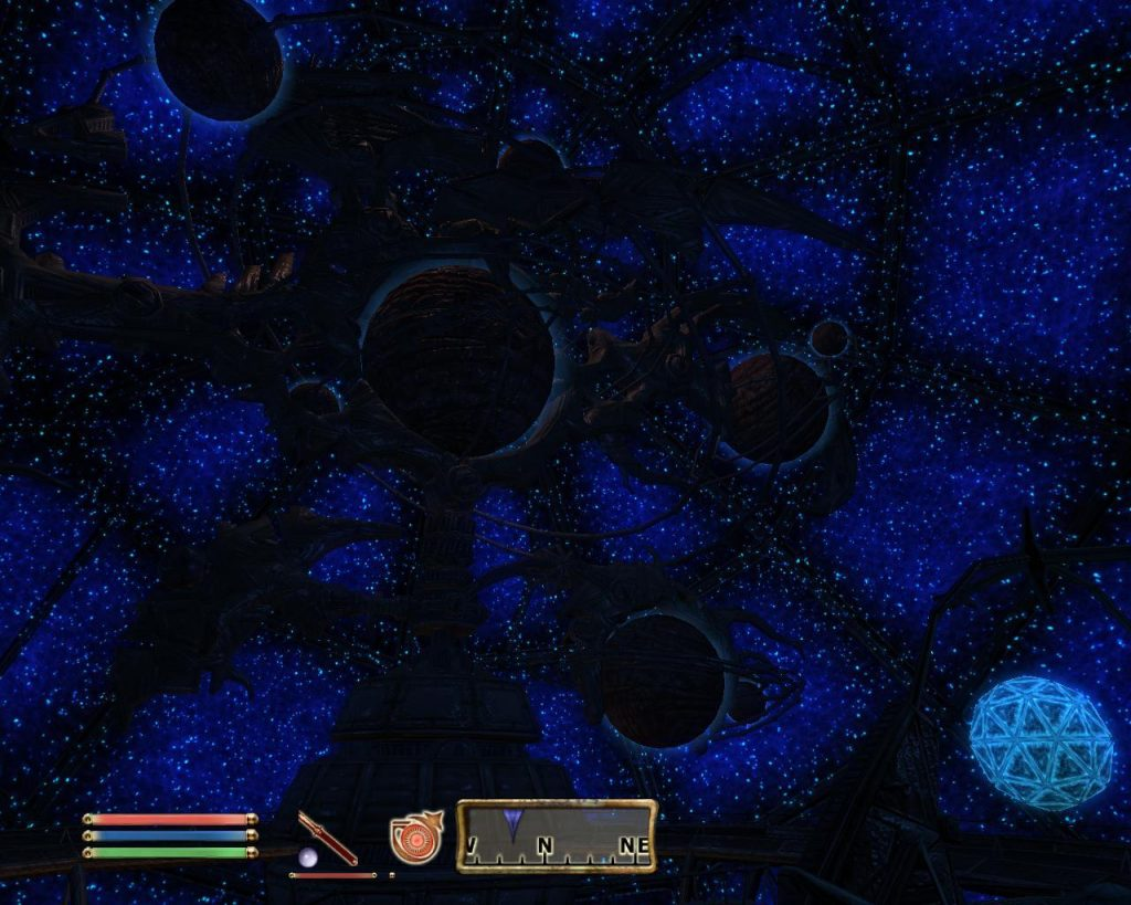 Oblivion Screenshot - Orrery is the second official plugin for The Elder Scrolls IV: Oblivion. The plugin adds a few new items, and forces a new quest in which one of the Mages Guild helps a Dwemer to repair and old magical planetarium, from which you can get new powers.