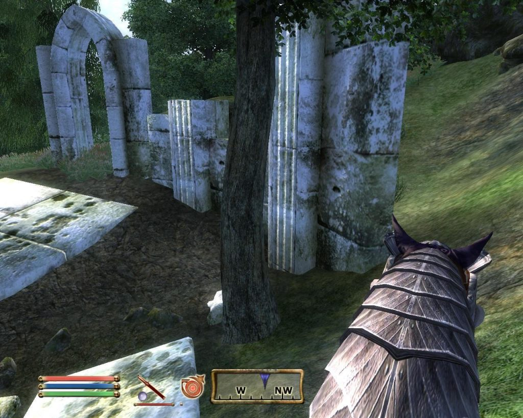 Oblivion Screenshot - At The Ruins While Riding A Horse