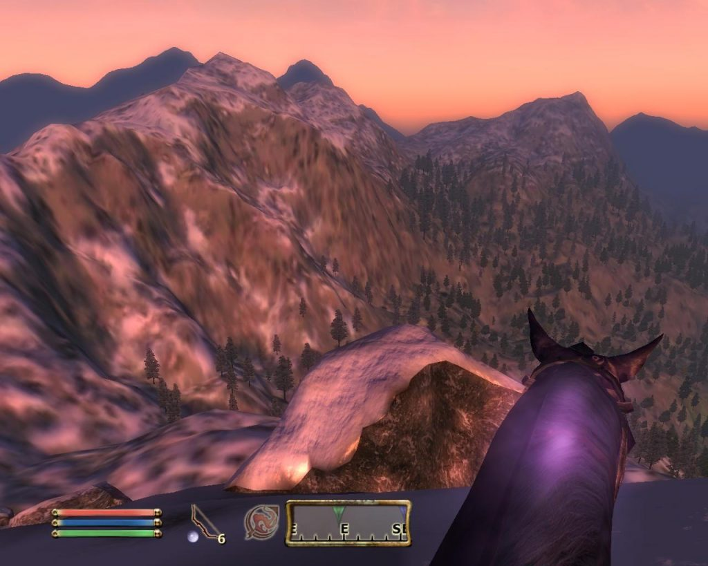 Oblivion Screenshot - On Top Of A Mountain While Riding A Horse